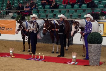 Vera Bracher und Smart Freckled Playboy in der Ehrung zur Europameisterin Amateur Showmanship