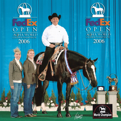 Michael Colvin und Double T Blue Chip, AQHA World Champion Senior Trail 2006. Quelle: www.michaelcolvin.org